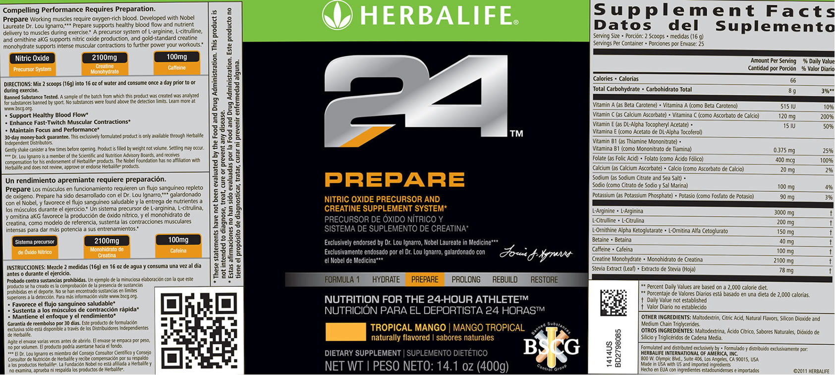 herbalife rebuild strength nutrition facts
